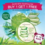Buy 1 FREE 1 for Best Seller – 92% Aloe Vera Soothing Gel promotion!