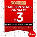 AirAsia offer 3 million promo seats just for you!