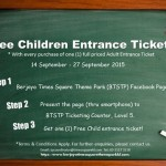 FREE Berjaya Times Square Theme Park's Child entrance ticket Giveaway!