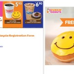 FREE second Dunkin' Donuts's donut Giveaway!