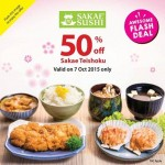 Sakae Sushi  offer 50%off of Sakae Teishoku Promotion!