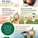FREE Starbucks VIA Latte sachet and Starbucks Car Bumper Sticker + Free Tall Triple coffee jelly Frappucino offer!