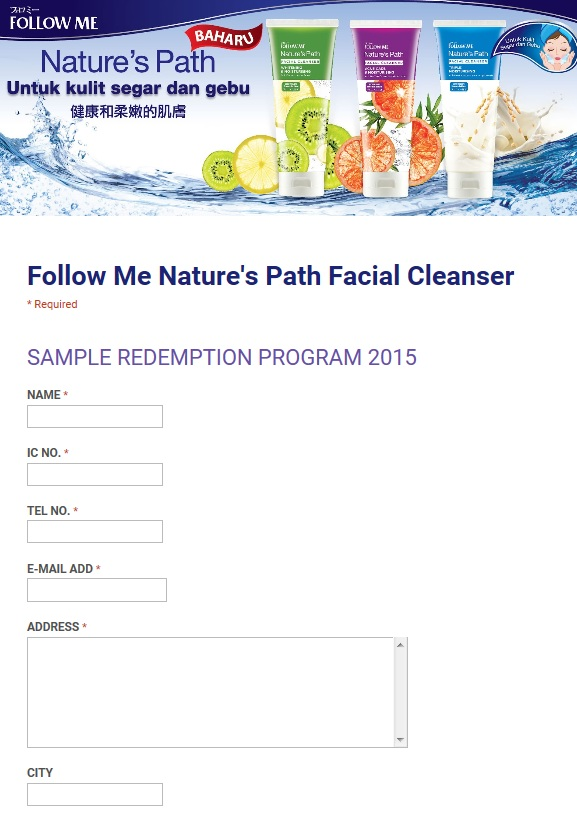 Hot and Facial cleanser sample