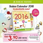 FREE Sakae Sushi coupons worth over RM200 Giveaway!