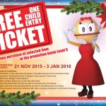 FREE Berjaya Times Square Theme Park One (1) Child Entrance Ticket Giveaway!