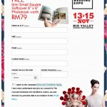 "FREE Mini Small Square Softcover Photobook 6"" x 6"" worth RM79!"