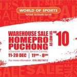 World of Sports Warehouse Sale as low as RM10!