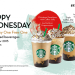 Starbucks Buy 1 FREE 1 Promotion!