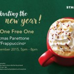 Starbucks Buy One Free One Christmas Panettone Latte or Frappuccino!