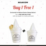 Milkcow Buy 1 Free 1  Mini Milky Way promotion!