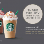 Starbucks  50% off Any Handcrafted Beverage Promotion!