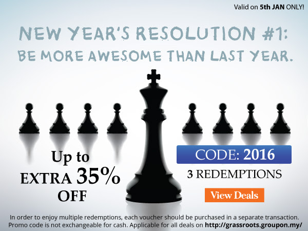 Groupon Extra 35%off Promotion! -