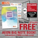FREE AEON Big Note Book Giveaway!