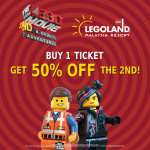 Legoland Buy 1 and Get 2nd Ticket at 50% OFF Promotion!