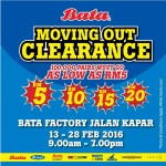 Bata Moving Out Clearance, Price as low as RM5 only!