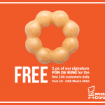 FREE a Mister Donut Pon De Ring Giveaway!