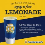 FREE Auntie Anne's  Lemonade  E-Voucher Giveaway!