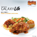 Kenny Rogers Roasters Buy 1 Free 1 Promotion!