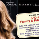 L'Oreal Family & Friends Sales!