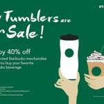 Starbucks Offer 40% off on Selected Merchandises!