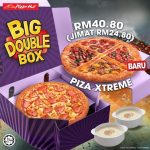 Pizza Hut Xtreme Big Double Box Save RM24.80 Offer!