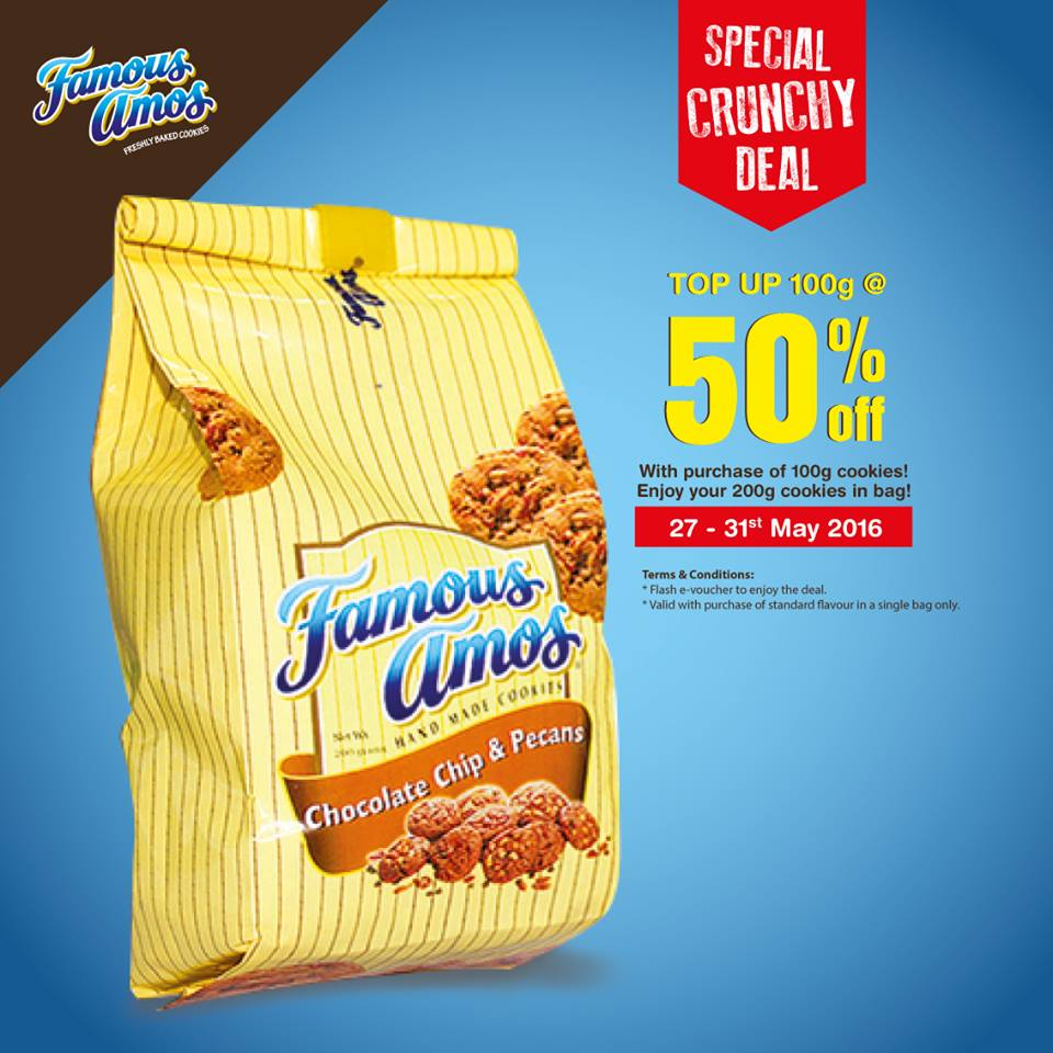Worksheet Famous Amos famous amos offer 50off promotion promotion