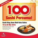 FREE Sushi King 100 dishes of Salmon and Ebi Fry Giveaway!
