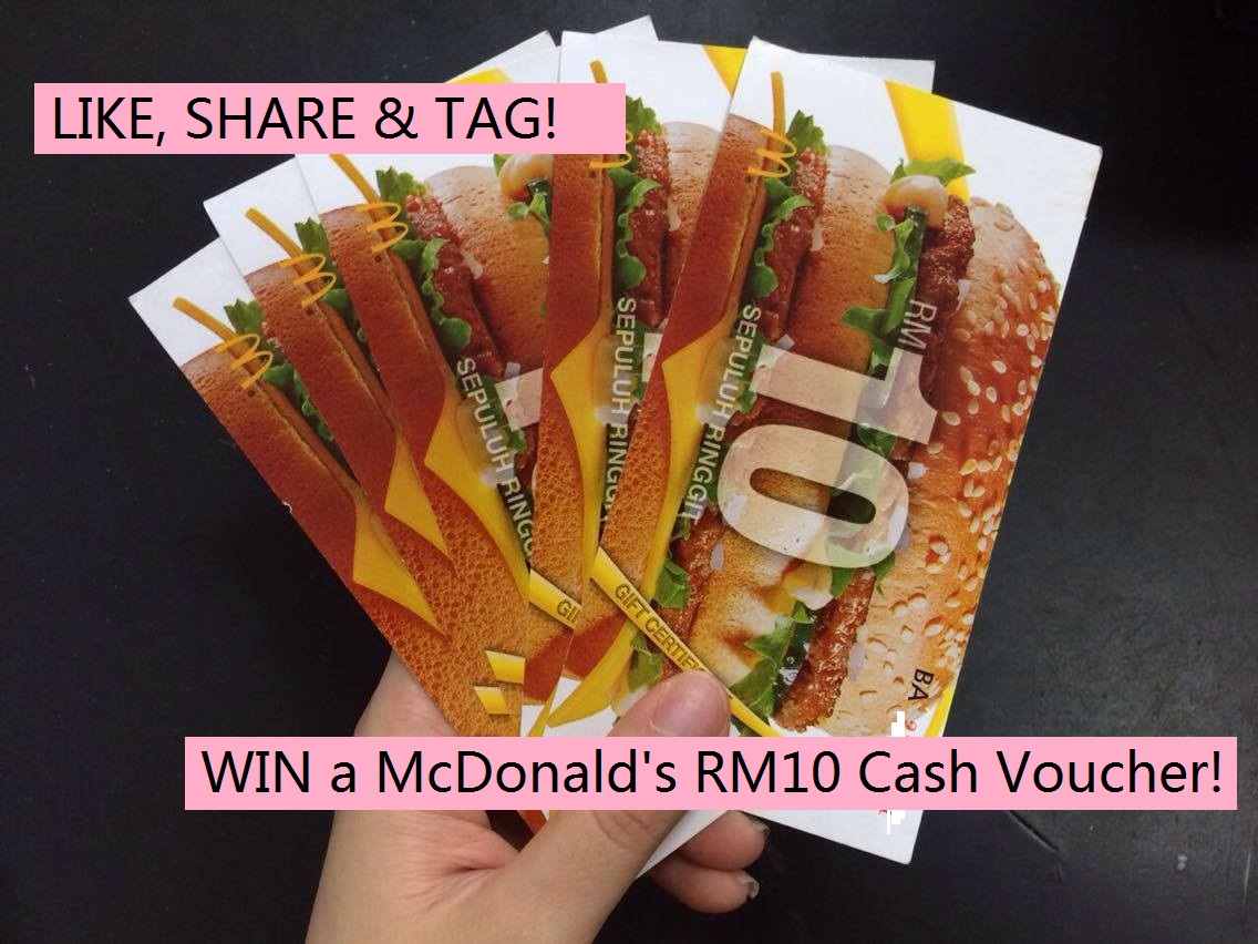 Free mcdonalds rm10 cash voucher giveaway my 1betcityfo Image collections