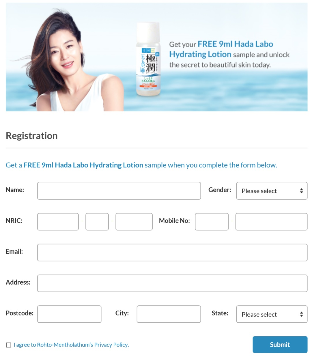Free 9ml Hada Labo Hydrating Lotion Sample Giveaway Just Sampel Is Giving Away Complete You Detail Can Enjoy Freebies To Your Doorstep