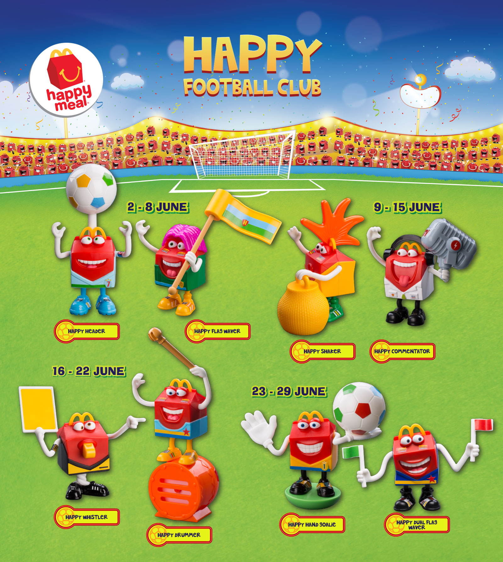 Happy Meal Toys : Free mcdonald s the happy football club meal toy