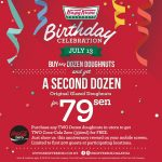Krispy Kreme Doughnuts Original Glazed Doughnuts at only 79sen!