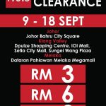 F.O.S Super Clearance, Price As Low As RM3 Only!