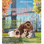"""FREE One Pair (2 pieces) of """"The Secret Life of Pet"""" Movie Tickets Giveaway!"""