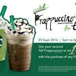 Starbucks Second TALL sized Frappuccino at RM1 Only!
