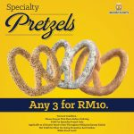 Auntie Anne's Offer Any 3 Specialty Pretzelat RM10 Only!