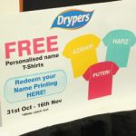 Drypers Reward Customers Special Gift Instant T-shirt Printing!