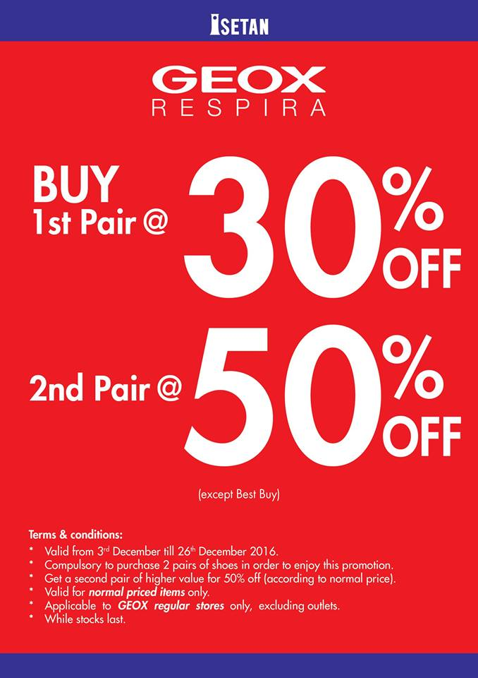 GEOX Special Promotion, Up To 50%off Discounts!