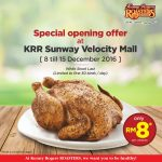 Kenny Rogers ROASTERS Offer Whole Chicken at RM8 Only!