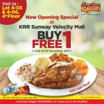 Kenny Rogers ROASTERS Offer Buy 1 FREE 1 Promo!