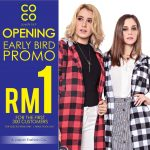 COCO Concept Store Fashion Early Bird Promo at RM1 Only!