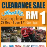 Anakku Warehouse Clearance Sale, Prices from RM1 Only!