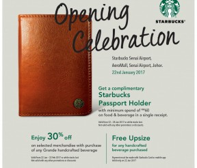 FREE Starbucks Passport Holder Giveaway!