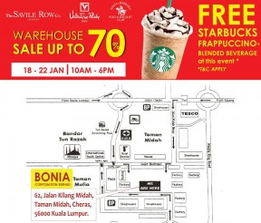 Sembonia Warehouse Sales, FREE Starbucks Frappuccino Blended Beverage Giveaway!