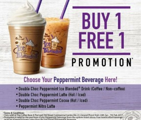 The Coffee Bean & Tea Leaf Offer Buy 1 FREE 1 Promo!