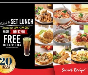 Secret Recipe Offer New Value Lunch Set Promo!