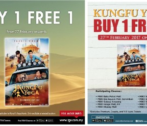 KungFu Yoga movie Buy 1 FREE 1 Promo!