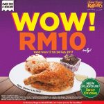 Kenny Rogers ROASTERS Offer Spicy Chicken Lite Meal Rm10 Only!