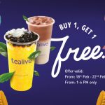Tealive Offer Buy 1 FREE 1 Promo!