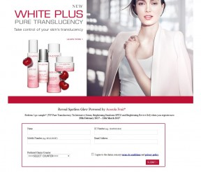 FREE Clarins New White Plus Range Sample Giveaway!