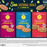 Dominos Sen-Sational Deals 2nd Pizza at RM0.20 Only!